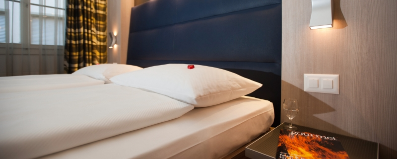 Ici vous trouverez la chambre d'hôtel idéale pour votre séjour à Zurich.