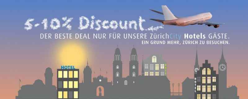 Enjoy a 5 – 10 % discount on flights to Zurich!